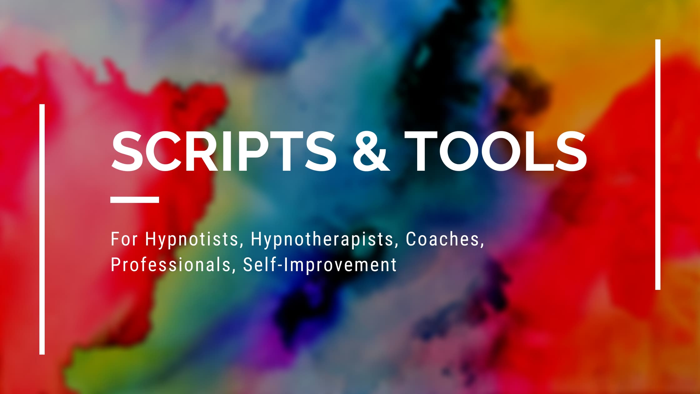Scripts & Tools for hypnotists hypnotherapists resource page